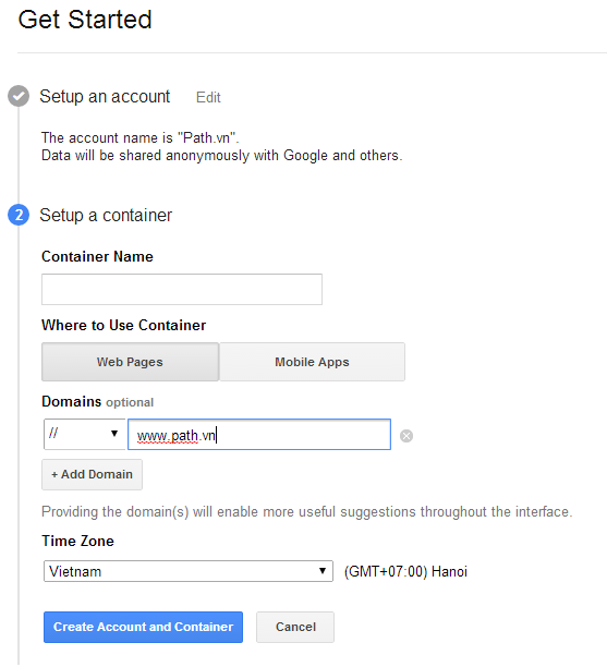 Google Tag Manager có thể sử dụng cho cả Mobile Apps